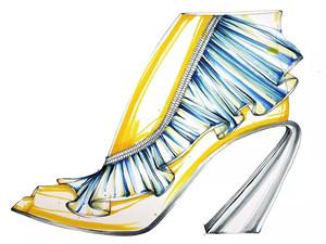 【优秀女鞋创意】优秀设计手稿推介