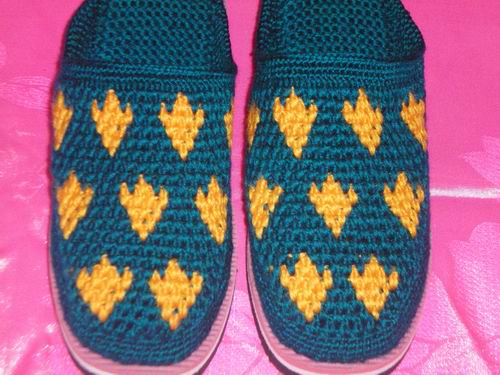 巧女人手钩毛线拖鞋-爱迪威手工坊有限公司