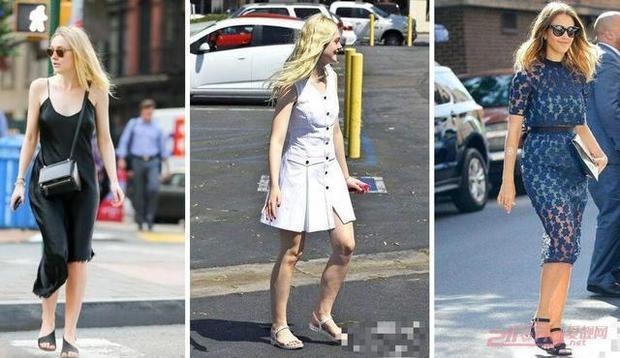 夏天穿连衣裙搭凉鞋的技巧 让你美得不一般!