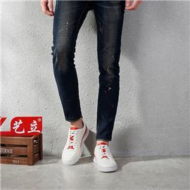 艺立 88a02-3 男士商务时尚休闲皮鞋