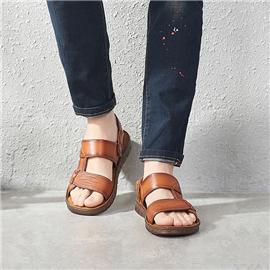 艺立 凉鞋3潮流休闲透气软皮凉鞋图片