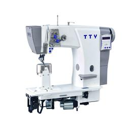 TTY-9609 Fully automatic double needle post bed roller feed sewing machine (10 national languages)