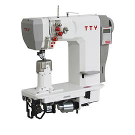 TTY-9902 Fully automatic double needle post bed roller feed sewing machine