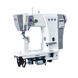 TTY-9608 Fully automatic single needle post bed roller feed sewing machine (10 national languages)