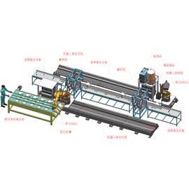 H钢移动焊接机器人工作站 |双层立体输送线 |自动喷胶机器人
