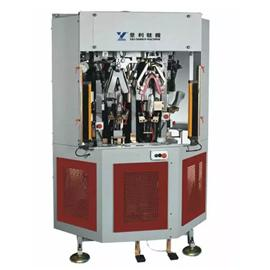 YL-818 CF4HP 四工位后踵定型機 |自動噴膠機器人 |全自動裁斷機