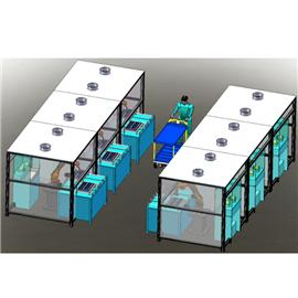 手机边框打磨机器人工作站 |自动喷胶机器人 |全自动裁断机
