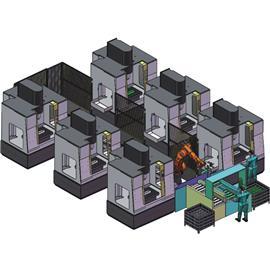 CNC加工移动机器人自动上下料