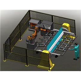 三轴回转变位机焊接机器人工作站 |鞋子自动化生产线 |双层立体输送线