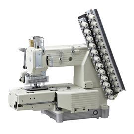 MR4412P 半筒式十二针弯针纵向双重环缝缝纫机