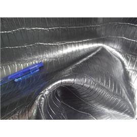 二层银灰色珠光贴膜亮面鳄鱼纹牛皮,高光滑面鳄鱼纹牛皮,低价出售