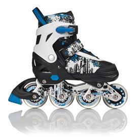 力星826溜冰鞋儿童闪光可调码直排轮滑鞋