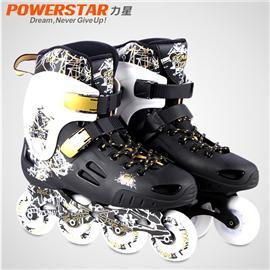 正品力星战神II单排轮滑鞋成人溜冰鞋成年旱冰鞋平花鞋直排轮男女