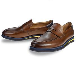 全真头层牛皮猪皮材质EVA橡胶大底绅士男鞋G8953-H1