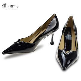 SE11861-8漆皮橡胶底7cm密鞋
