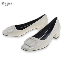 SE20Q856-15羊皮布料橡胶3.8cm密鞋