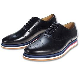 头层牛皮猪皮材质EVA橡胶大底绅士男鞋G8953-H9