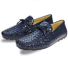 全新牛皮编织猪皮材质橡胶大底休闲男鞋HF191130-1