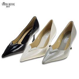 SE11861-8漆皮羊皮橡胶底7cm密鞋