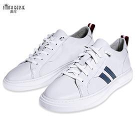 Y71538-2牛皮猪皮橡胶底休闲男鞋