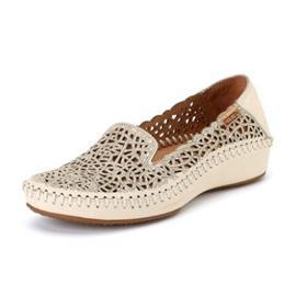 擦色圆头套脚休闲女士单鞋