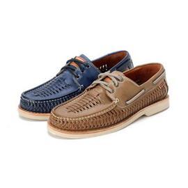 时尚系绳透气商务皮鞋