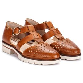 擦色复古英伦风范 头层牛皮擦色镂空 尖头女凉鞋包脚型帅气百搭鞋