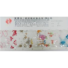 印花刺绣亮片  10371