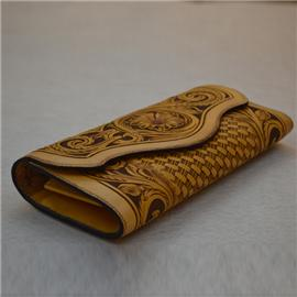 Hand carved tangcao clutch