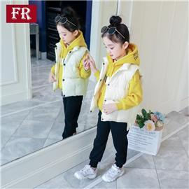 女童秋冬装套装2019新款儿童十岁洋气加绒加厚三件套