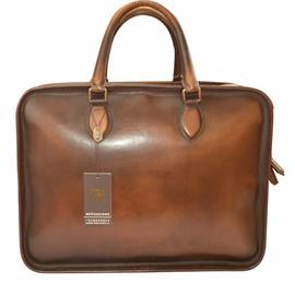 Handmade men briefcase dark coffee