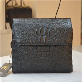 Crocodile leather briefcase