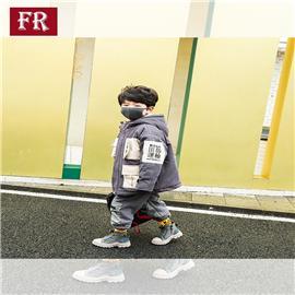 男童秋冬季外套新款冬装加绒夹棉儿童中大童风衣中长款洋气潮