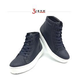 秋冬韩版男女款高帮板鞋真皮短靴厚底英伦时尚潮流缝制休闲鞋