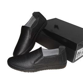 男士休闲鞋1691潮流时尚简单大气耐磨橡胶垫进口牛皮猪皮内里牛皮鞋垫尺