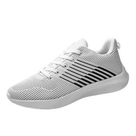 飛織網鞋男2020新款夏季潮流透氣椰子網鞋運動休閑跑步百搭小白鞋圖片