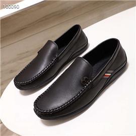 2020年新款18075男士透气时尚商务休闲懒人一脚蹬乐福皮鞋