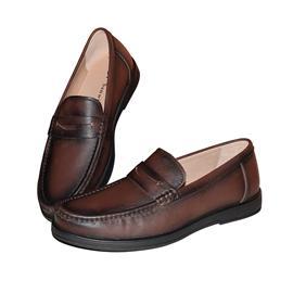 男士棕色休闲真皮男鞋2523-1时尚真皮男鞋