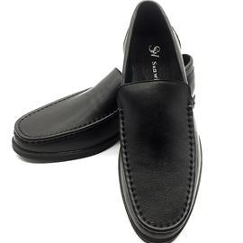 新款男鞋商务休闲男鞋真皮男鞋一脚蹬头层牛皮透气舒适套脚男鞋
