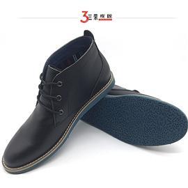 秋冬新款男士英伦马丁靴真皮男靴头层牛皮潮流时尚平底短款男靴
