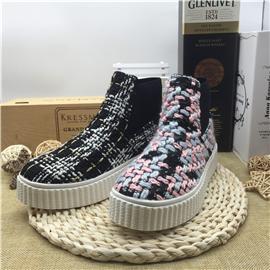 三荣皮匠BB--010休闲女鞋针织女鞋厚帮女鞋女鞋批发