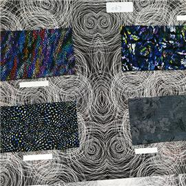 Multi-color printing leather polyleathe