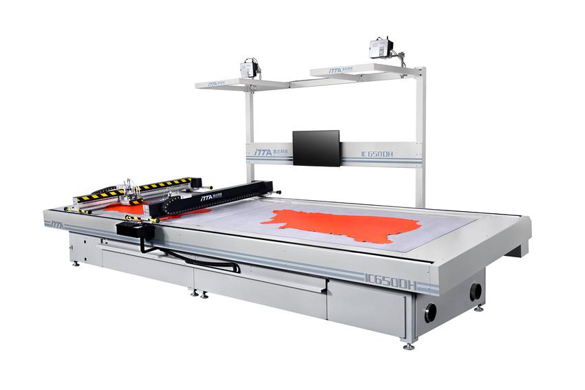 IC455DH/IC650DH 雙刀頭雙區域數控振動刀皮革切割機|電腦皮革切割機|電腦數控機