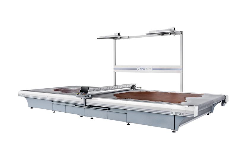 IC850C 数控振动刀皮革切割机(双传送带式)|电脑皮革切割机|电脑数控机