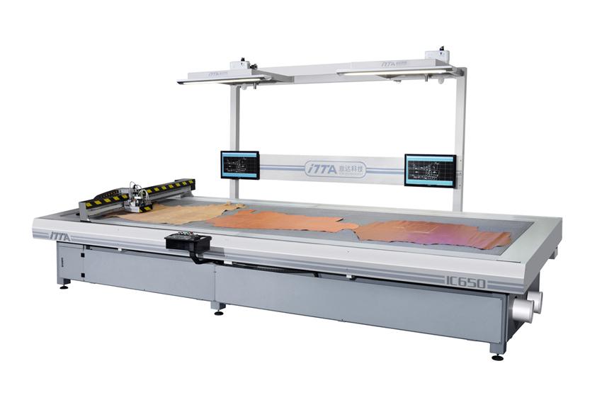 IC650 CNC vibratory knife leather cutting machine