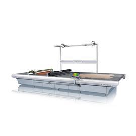 IC850DHC 双刀头双传送带式智能皮革切割机|布料切割机|抄板机