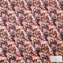 QX3722 printed fabric, super fiber leather, diving knitted fabric.