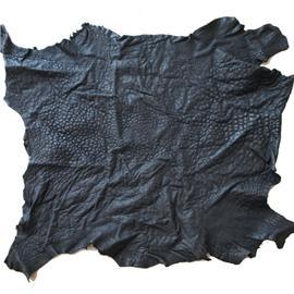 黑色缩纹羊皮