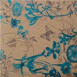 LDF04 花样年华系列 现货供应软木革 花卉合成革 软木工艺品 鞋材工艺品材料