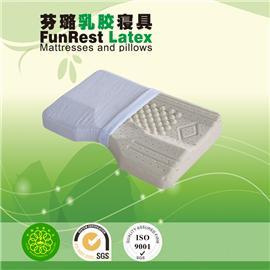 曲线按摩护颈枕  泰国乳胶枕头  进口纯天然正品   护颈枕保健枕   颈椎枕头枕芯